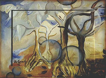 Acryl und Airbrush, Größe ca.110x80 cm