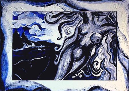 Acryl , teilweise gespachtelt, Größe 110x80 cm