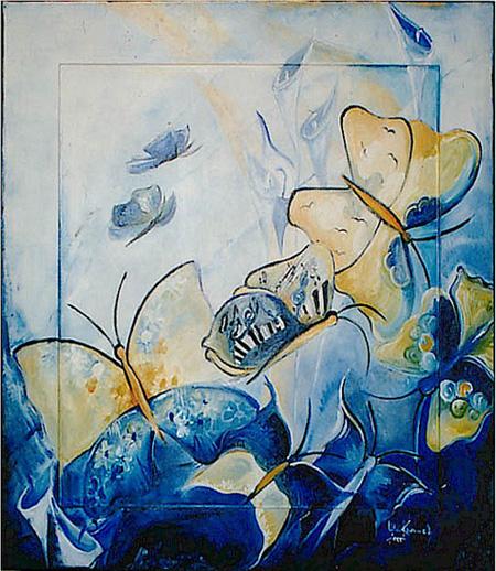 Acryl, Größe ca. 90x80 cm