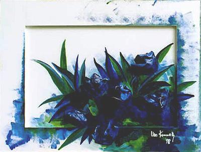 Acryl mit aufgesetzten Tulpen (3D), Größe ca.75x55 cm