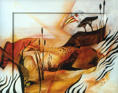 Acryl und Airbrush, Größe ca. 110x80 cm