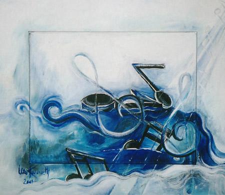 Acryl, Größe ca. 60x50 cm