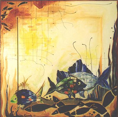 Acryl, Größe ca. 75x75 cm