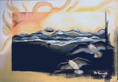 Acryl, Größe ca. 110x80 cm
